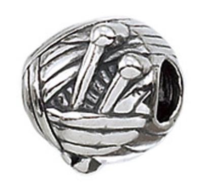 Authentic ZABLE Knitting Needles Ball of Yarn Bead Charm BZ2040