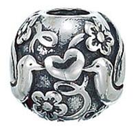 Authentic Zable Love Birds Bead Charm BZ2174