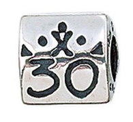Authentic Zable 30th Anniversary/Birthday Bead Charm BZ2074