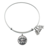 Wind and Fire Cancer Crab Zodiac Symbol Charm with Bangle WF116