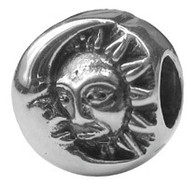 Authentic Zable Sun and Moon Bead Charm BZ1714