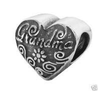 Authentic ZABLE Grandma Heart Bead Charm BZ1912