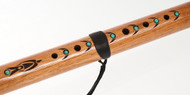 Large HEART Chakra Cedar Flute With Turquoise Inlay