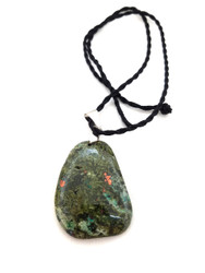Pyrite & Quartz Druzy & Chrysocolla Pendant