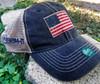 American Flag trucker mesh back