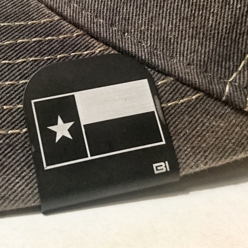 Hat clip Brim-it Texas Flag Black and white