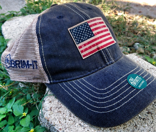 American Flag trucker mesh back