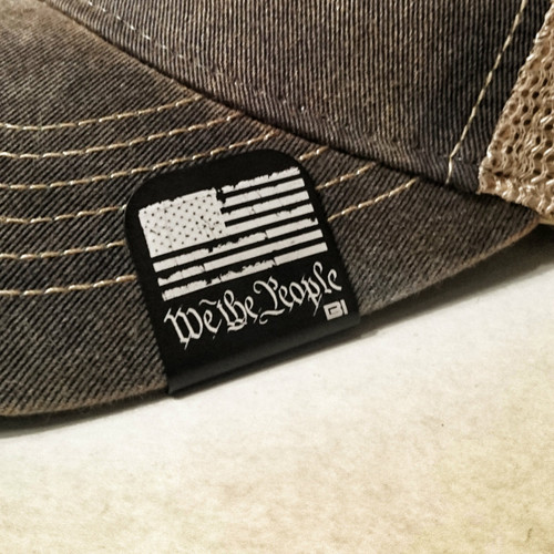 Hat clip Brim-it We the people black/white