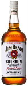 Jim Beam White Label 1lt bottle