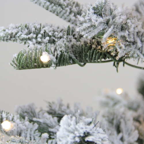 9' Pre-Lit Layered Noble Fir Artificial Christmas Tree