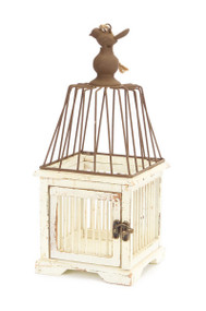 Decorative bird cages rustic vintage modern cages christmas central - Decoration cage oiseau ...