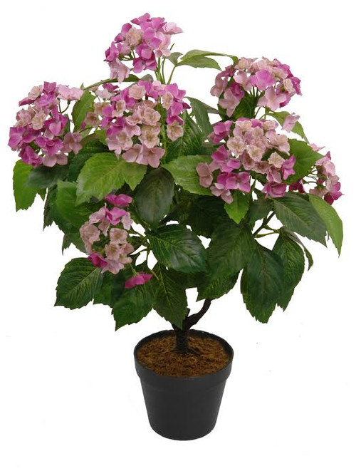Decorative potted artificial green and pink hydrangea plant 32036862 christmascentral - Care potted hydrangea ...