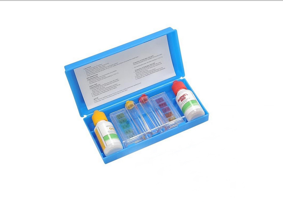 3 Way Swimming Pool Test Kit With Case Tests Ph Chlorine And Bromine Levels 32234540