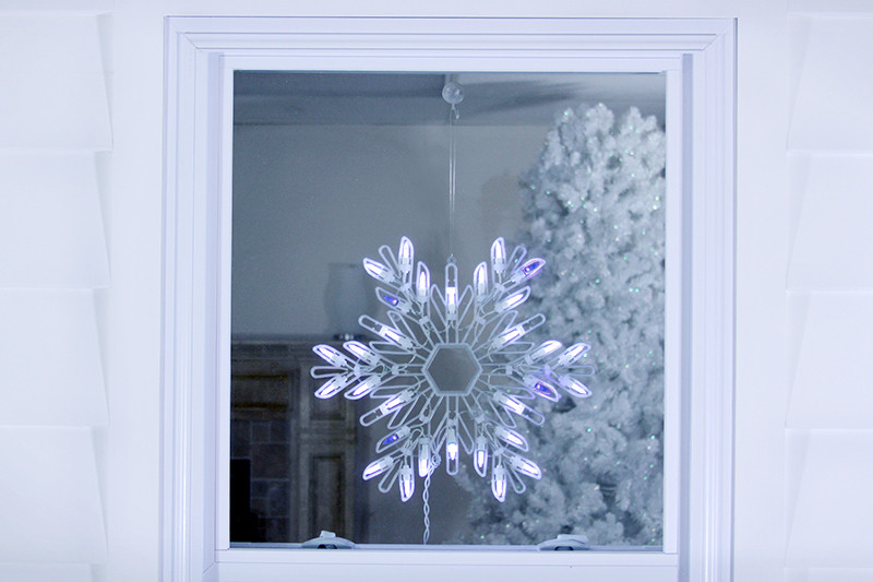 15 shimmering pure white blue led lighted snowflake for 30 lighted nativity christmas window silhouette decoration