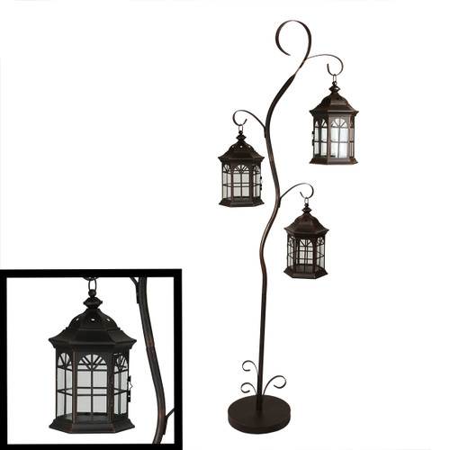 Shenandoah 5 1 Down Light Rustic Chandelier Twig: 60 Rustic Weathered Copper Brown Pillar Candle Holder Tree