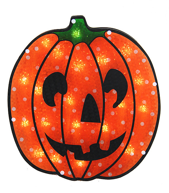 13 lighted holographic jack o 39 lantern pumpkin halloween for 30 lighted nativity christmas window silhouette decoration