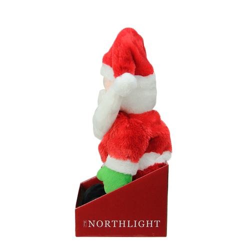 12 Animated Tickle N Laugh Santa Claus Plush Christmas