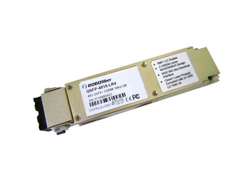 QSFP-4010-LR4 40G QSFP transceiver 10Km range, LC dual connector, quad CWDM 10G lasers