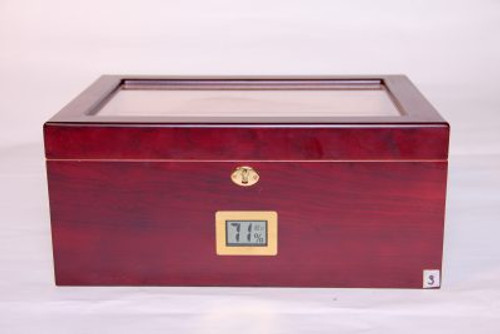Cherry 75-100 Humidor w/ Digital Hygrometer