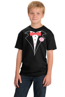 Kids Tuxedo T-shirt in Black