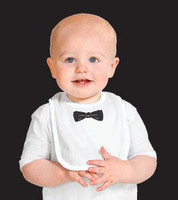 Baby Bib with Black Tie