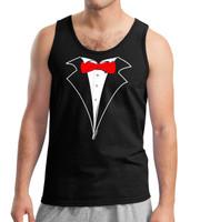 Tuxedo Tank Top Red Tie