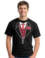Tuxedo T-Shirt Euro Style Black(closeout)