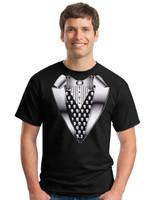 Black Gothic Tuxedo T-shirt