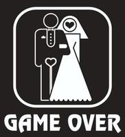 Game Over Tuxedo Tee