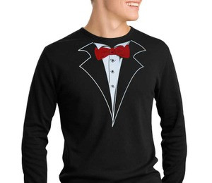 Thermal Long Sleeve Tuxedo T-Shirts