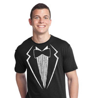 Vintage Tuxedo T-Shirt on a soft lightweight Black