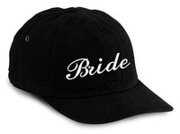 Bride Embroidered Hat in Black One Size