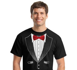 Real Tie Tuxedo T-Shirts