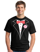 EVENT STAFF Tuxedo T-shirt in Black - Classic