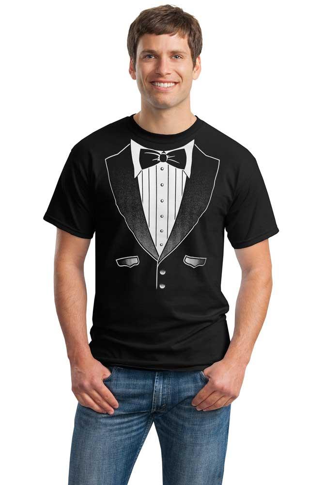 Black Original Tuxedo T Shirt In Big And Tall