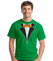Tuxedo T-Shirt on Irish Green - St Patty Inspired