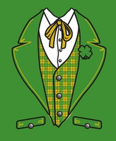 Tuxedo T-Shirt -Irish- on Kelly Green Euro Style