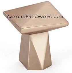 "2368-1MDB-P Cabinet Door Knob Modern Bronze 1 3/16"" Square"