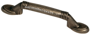 9660-AIM-D Cabinet Handle Weathered Iron 3 Inch Hole Spacing
