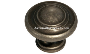 "9653-AIM-D Cabinet Knob Weathered Iron 1 ¼"" Diameter"