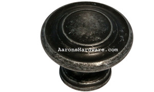 "9653-ASM-D Cabinet Knob Weathered Steel 1 1/4"" Diameter"