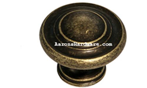 "9653-ABM-D Cabinet Knob Weathered Brass 1 ¼"" Diameter"