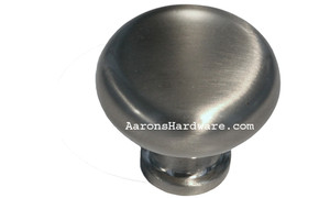 """9654-BSN Cabinet Knob Brushed Satin Nickel 1 ¼"""" Diameter"""