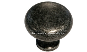 "9654-ASM-D Cabinet Knob Weathered Steel 1 ¼"" Diameter"