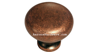 "9654-ACM-D Cabinet Knob Weathered Copper 1 ¼"" Diameter"