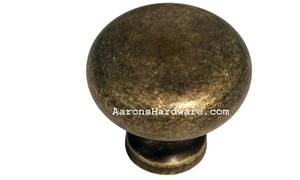 "9654-ABM-D Cabinet Knob Weathered Brass 1 ¼"" Diameter"