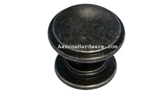 "9669-ASM-D Cabinet Knob Weathered Steel 1 ¼"" Diameter"