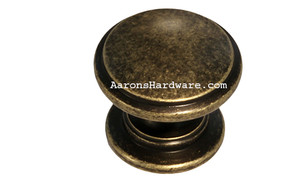 "9669-ABM-D Cabinet Knob Weathered Brass 1 ¼"" Diameter"