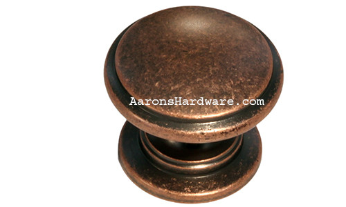 "9669-ACM-D Cabinet Knob Weathered Copper 1 ¼"" Diameter"