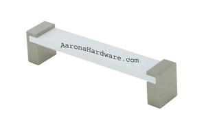 9376-128-BNI-WT Cabinet Handle Brushed Nickel &White 128mm Hole Spacing